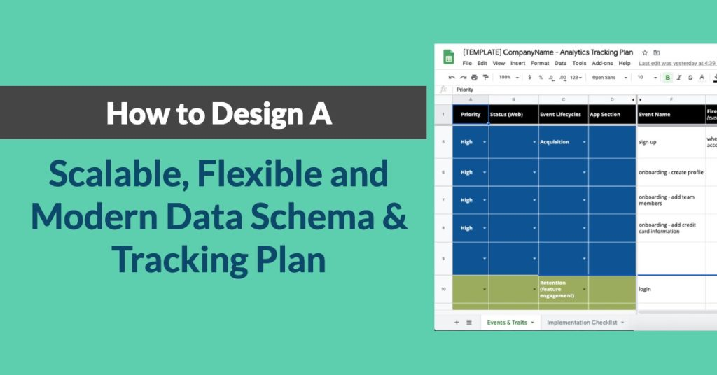Design a Scalable Data Schema and Tracking Plan