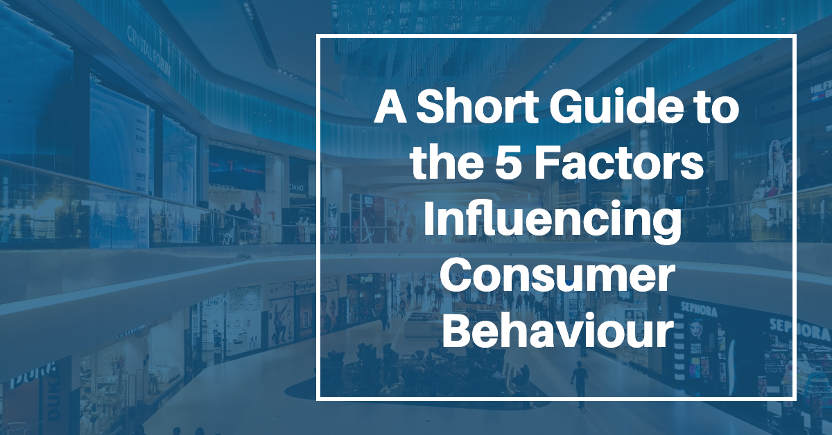 A Short Guide to the 5 Factors Influencing Consumer Behaviour
